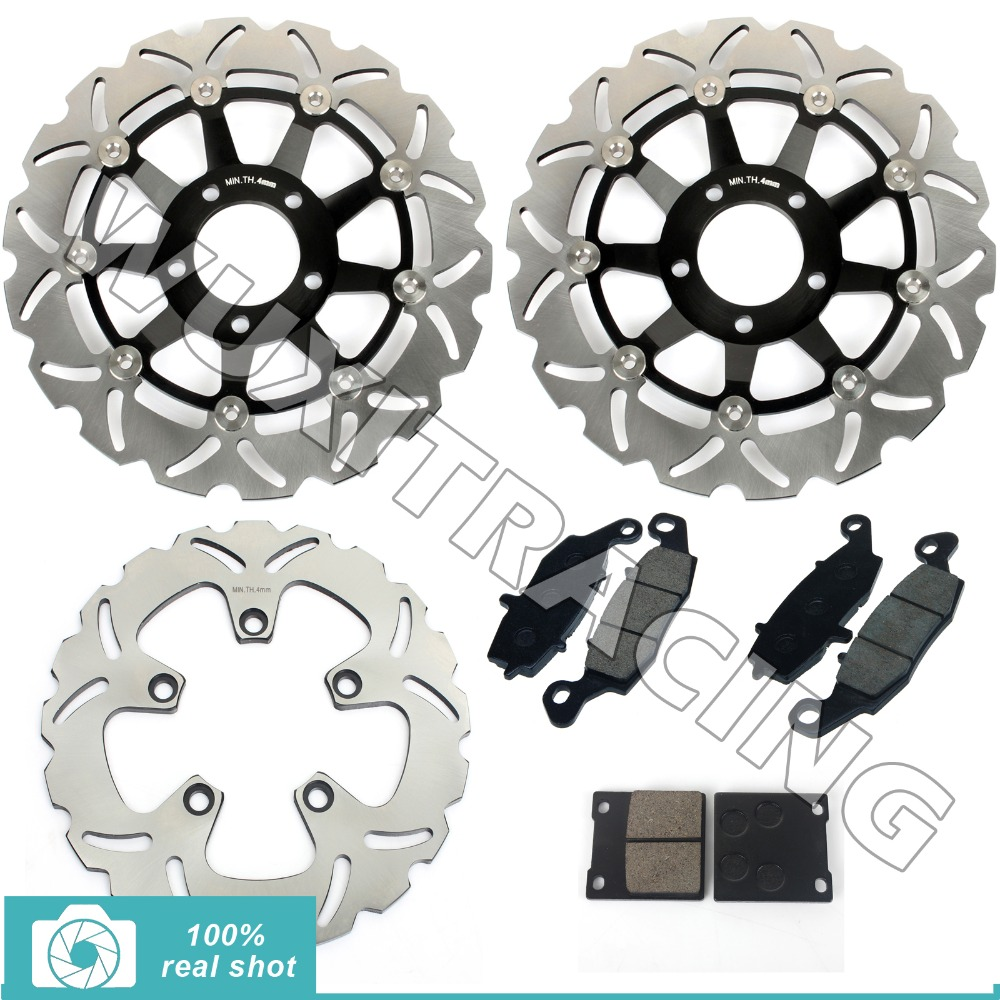 Front Rear Brake Discs Disks Rotors + Pads for Suzuki GSF 600 / S Bandit K1 K2 K3 K4 01 02 03 04 SV650S 99-02 GSX 750 F 98-02 94 95 96 97 98 99 00 01 02 03 04 05 06 new 300mm front 280mm rear brake discs disks rotor fit for kawasaki gtr 1000 zg1000