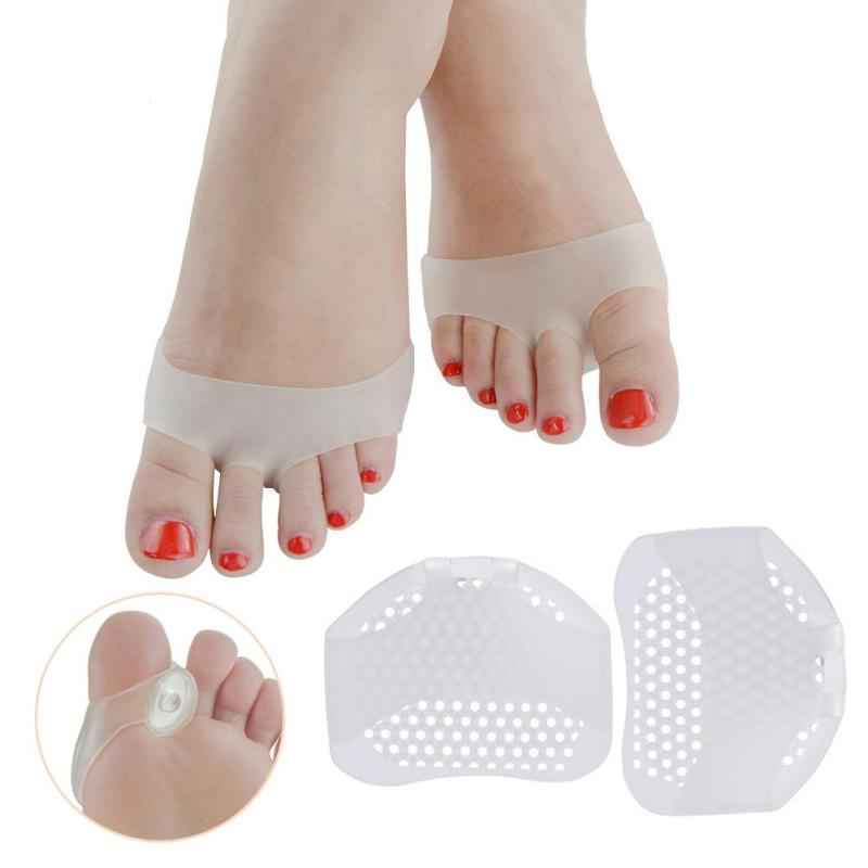 1 Pair High Heel Shoe Pads Forefoot Pads Slip Resistant Half Yard Pad Women Foot Care Massage Pain Relief Soft Silicone B4