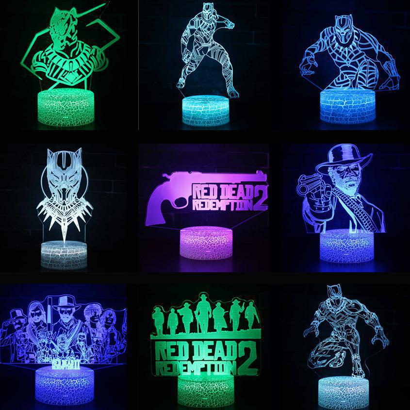 Sporting Christmas Gift Children's Toys 3d Table Lamps For Living Room Desk Lamp Decorations For Home Led Table Decoration