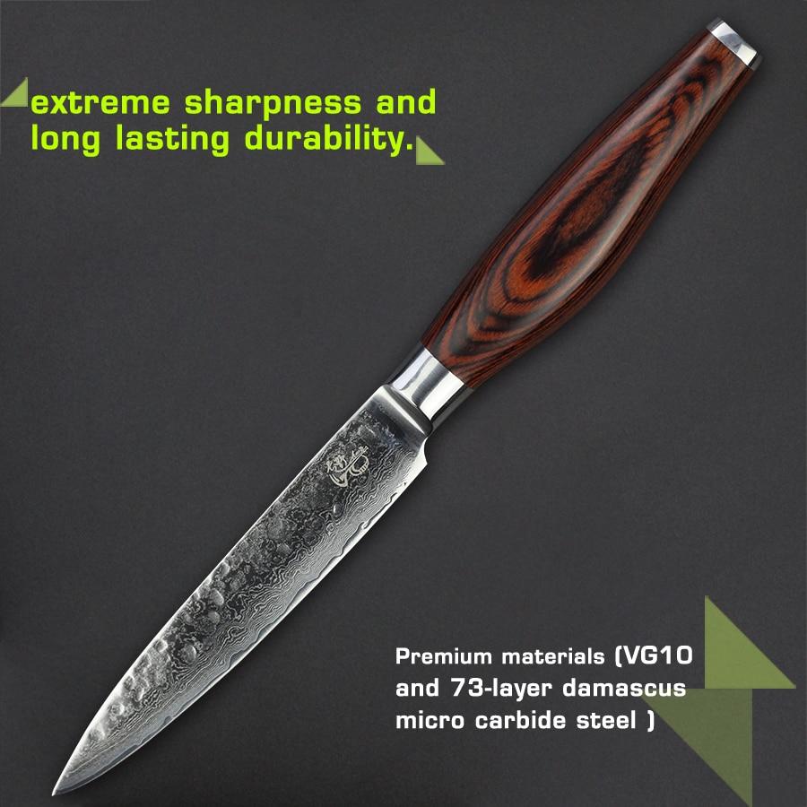 Damascus Knife Set   Haoye 5 Knife Kitchen Knife Set   Damascus Merchant