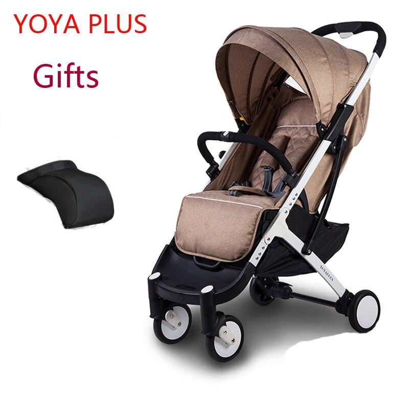YOYAPLUS yoya bébé poussette 2 en 1 lumière pliante parapluie voiture peut s'asseoir peut se coucher ultra-léger portable sur l'avion
