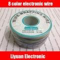 8 color de alambre electrónica/color bordo línea de la mosca/sola alambre de cobre estañado/30AWG air lines/8 colores OK línea