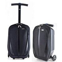 BeaSumore бренд микро скутер скейтборд тележка для багажа на колесах мужчины чемодан сундук Женская дорожная сумка Горячая высокое качество ст