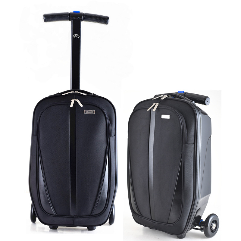 NEW Fashion Brand Micro Scooter Skateboard Rolling Luggage Trolley Men Suitcase Trunk Women Travel Bag Hot-top Quality Student car trunk storage box folding suitcase with wheel portable new top quality travel trolley carts 3 colors daily usage