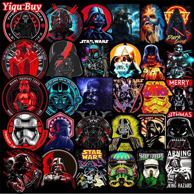 50 PCS Cool Star Warse Stickers Cartoon Anime Decals For Car Laptop Bicycle Motorcycle Phone Skateboard Suitcase Guitar Stickers