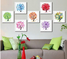 Diamond Embroidery Four Seasons Trees Picture 5d Diy Painting Needlework Cross Stitch Home Decor Gift