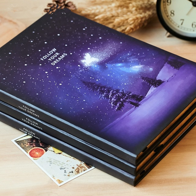 Beautiful Starry Sky Notebook A5/B5 Creative Notepad School Office Supplies Stationery Hard Surface Phnom Penh Diary Notebooks factory direct office supplies stationery 25 20 notebook korean creative diary custom thick notepad 1 pcs