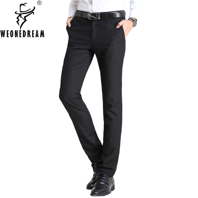 Man Suit Pants 2018 New Summer Style Mens Slim Fit Skinny Suit Pants