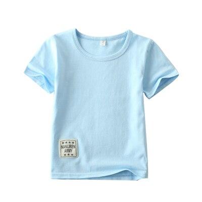62370b6f083 2018 summer boys clothes t-shirts solid color 3-10y children t shirt girls  clothing cotton casual o-neck vetements de garcons