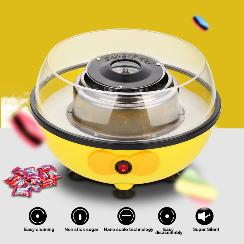 Mini Electric DIY Candy Floss Spun Sugar Maker Machine Home Sweet Sugar Cotton Candy Maker For Kids Family Gift
