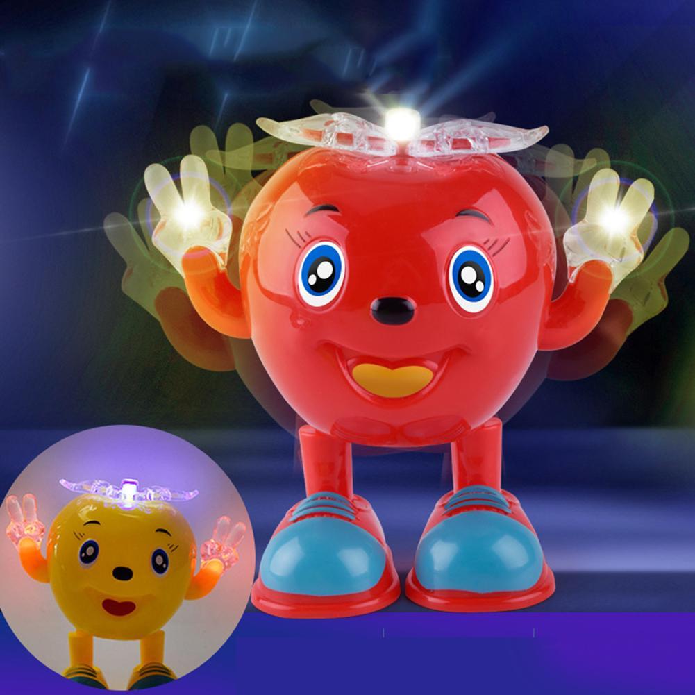 Bonito juguete eléctrico para bailar, Robot iluminado de manzana con música intermitente LED, juguetes interactivos para niños, juguetes para niños 1 pieza LED luz pelotas de Golf brillo intermitente en la oscuridad pelotas de Golf de noche Multi Color formación pelotas para practicar Golf, regalos