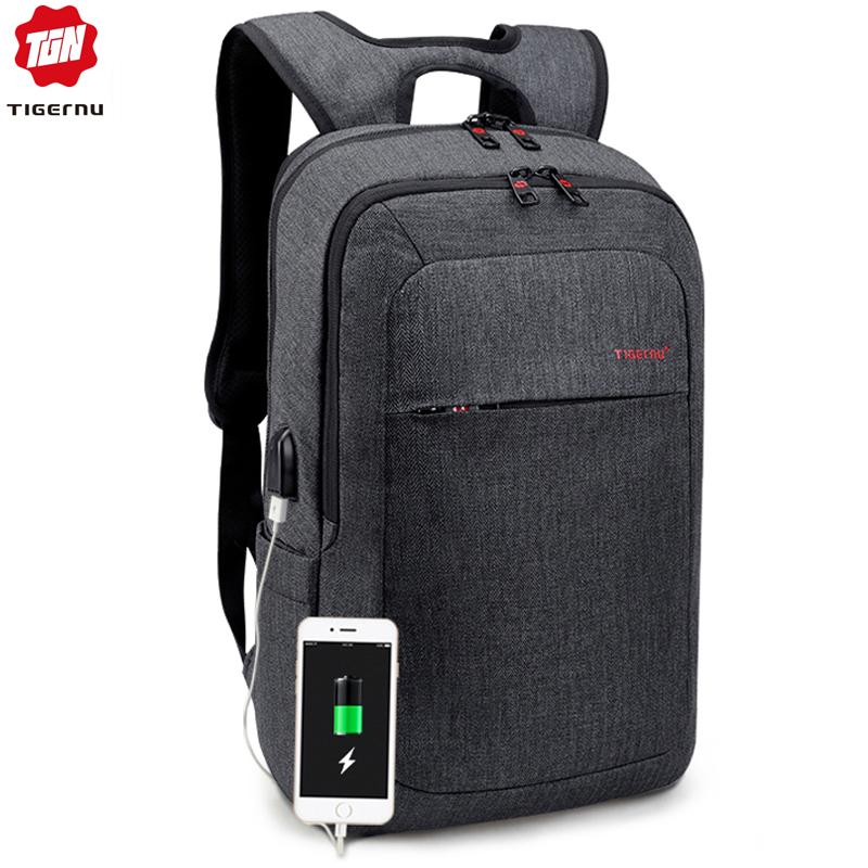 Tigernu Men Fashion 15.6 14 Inch Usb Recharging Backpacks Anti Theft Male Mochila Rucksack Laptop Backpack Schoolbag For Teens
