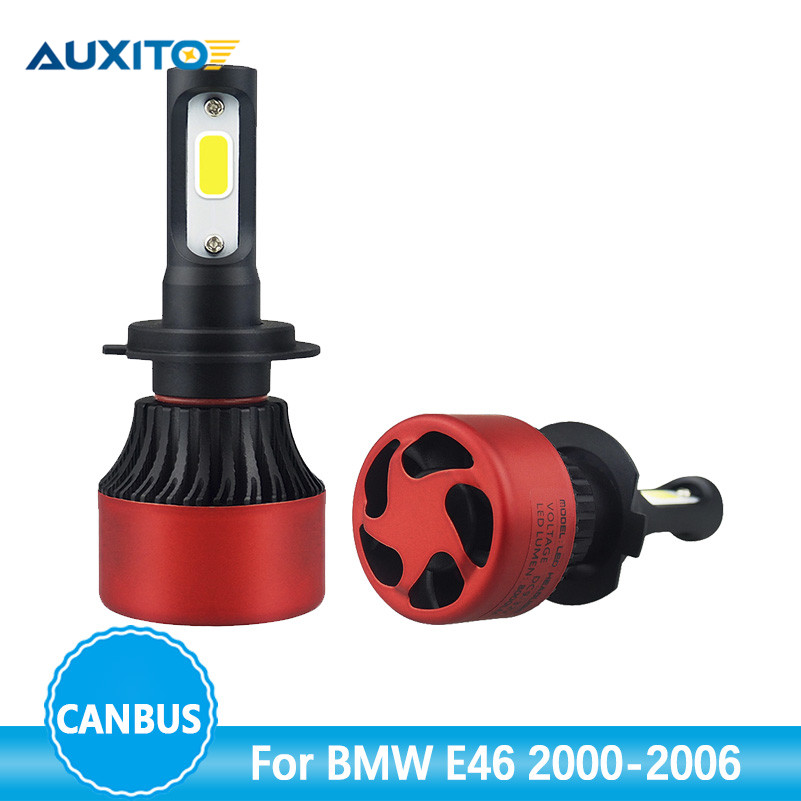 AUXITO H7 Canbus Car LED Headlight Bulbs 80W 16000LM All in One H7 LED Headlamp Fog Light For BMW E46 2000-2006