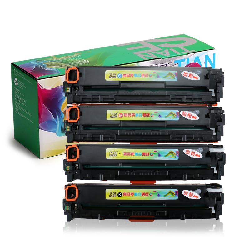 1 satz kompatibel hp125a cb540a cb541a cb542a cb543a 125a tonerkartusche für hp...