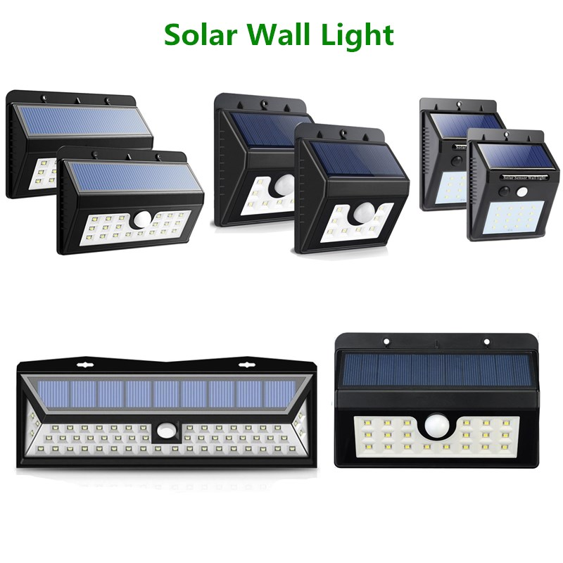 Solar lamp 8/20/24/54 LED Solar Motion Sensor Light PIR Outdoor SMD 2835 Solar light Energy Saving Garden wall lamp waterproof