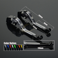 CNC Adjustable Motorcycle Billet Foldable Pivot Extendable Clutch & Brake Lever For BMW F800ST 06 15 F650GS 08 12 F700GS 13 16