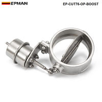 Tansky NEW Boost Activated Exhaust Cutout Dump 76MM OPEN Style TK CUT76OP BOOST