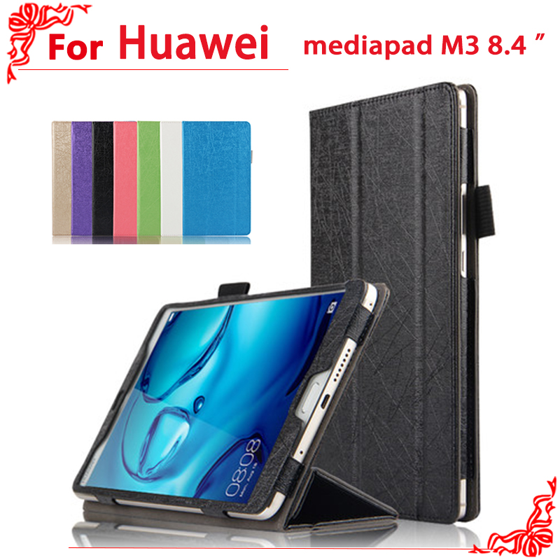 PU Leather Case cover For Huawei MediaPad M3 8.4 inch Tablet PC Protective Case For Huawei M3 BTV-W09 BTV-DL09 + free 3 gifts ultra thin pu leather case cover for huawei mediapad m3 btv w09 btv dl09 8 4 inch tablet cases stylus film