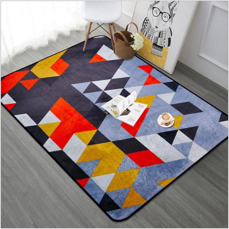 O SHI tapis de voiture motif géométrique abstrait décor à la maison tapis de sol 100CM * 150 CM/Table et chaise tapis de coussin