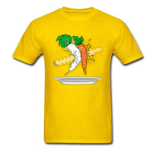 Carrot Salad T Shirt Men Funny Chef T-shirts Summer Yellow Tops Cartoon Tees Hip Hop Tshirt Printed Discount Hipster Camisa фрукто овощерезка salad chef цвет зеленый белый