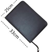 Yeni Dolma Kalem/Roller Kalem 48 Kalemler için Siyah Renk PU Deri Fermuar Durumda sıcak satış