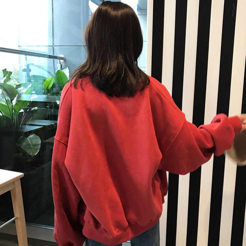 Женские осенние кардиганы Харадзюку Свободные с длинными рукавами круглый вырез Женское пальто свитер KNG88
