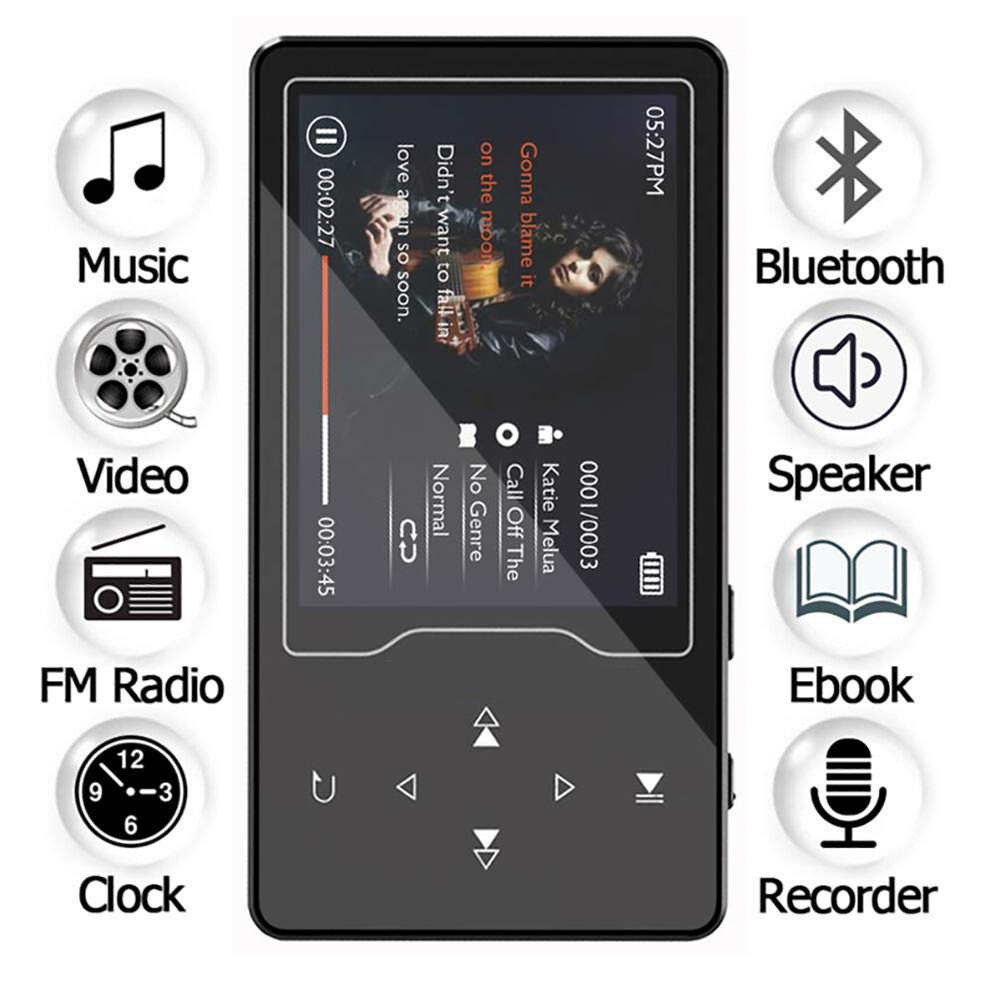 HIFI Bluetooth MP3 Player 16GB Built-in Speaker Touch Button with 2.4inch HD Big Screen Lossless Sound MP3 Music Player with FMHIFI Bluetooth MP3 Player 16GB Built-in Speaker Touch Button with 2.4inch HD Big Screen Lossless Sound MP3 Music Player with FM