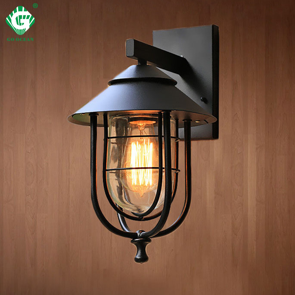 Outdoor Wall Light LED Waterproof Industrial Decor Outside ... on Led Sconce Lighting id=57292