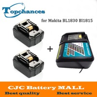 Новые Высокое качество 2 шт. 3000 мАч 18 В литий ионный Мощность инструмент Батарея для Makita BL1830 Bl1815 194230 4 LXT400 + Зарядное устройство