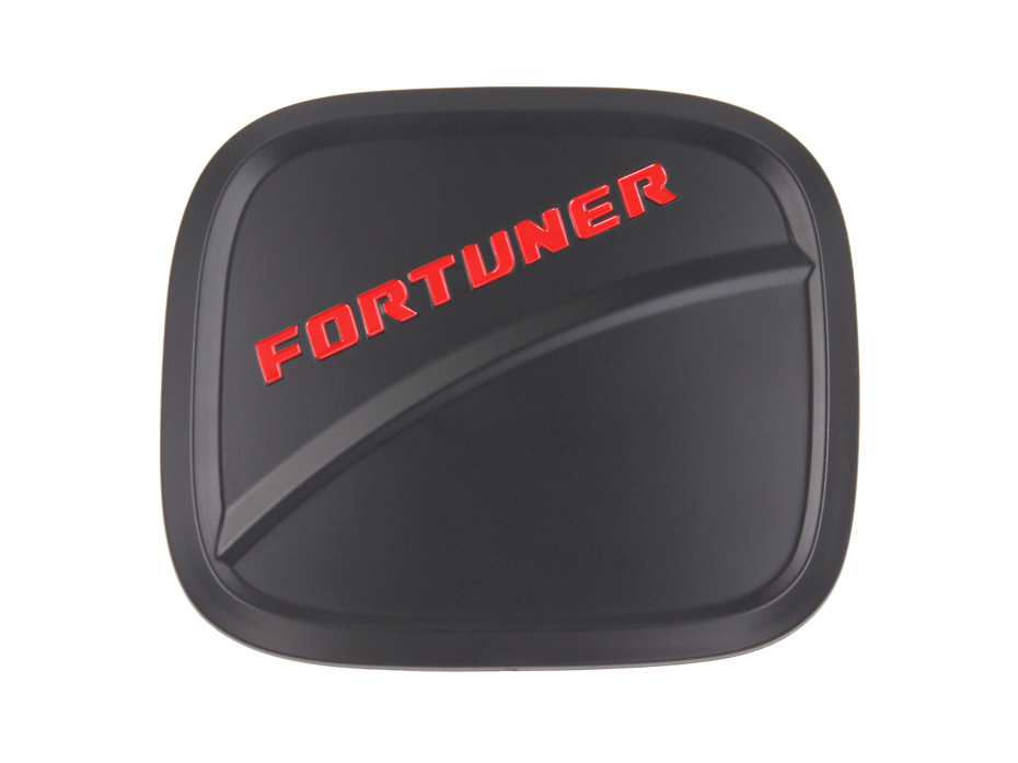 For Fortuner 2017 Accessories Exterior Fuel Tank Cover Matte Black ABS Plastic Gas Cover Auto Accessory 42
