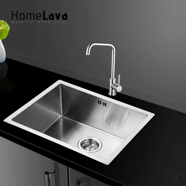 Hand made Brushed 304# Stainless Steel Kitchen Sink faucet kitchen ...