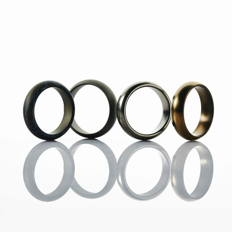 17MM Diameter Titanium EDC Ring Men Women Tail Ring Jewelry for Party Bands 4 Colors Polished Surface