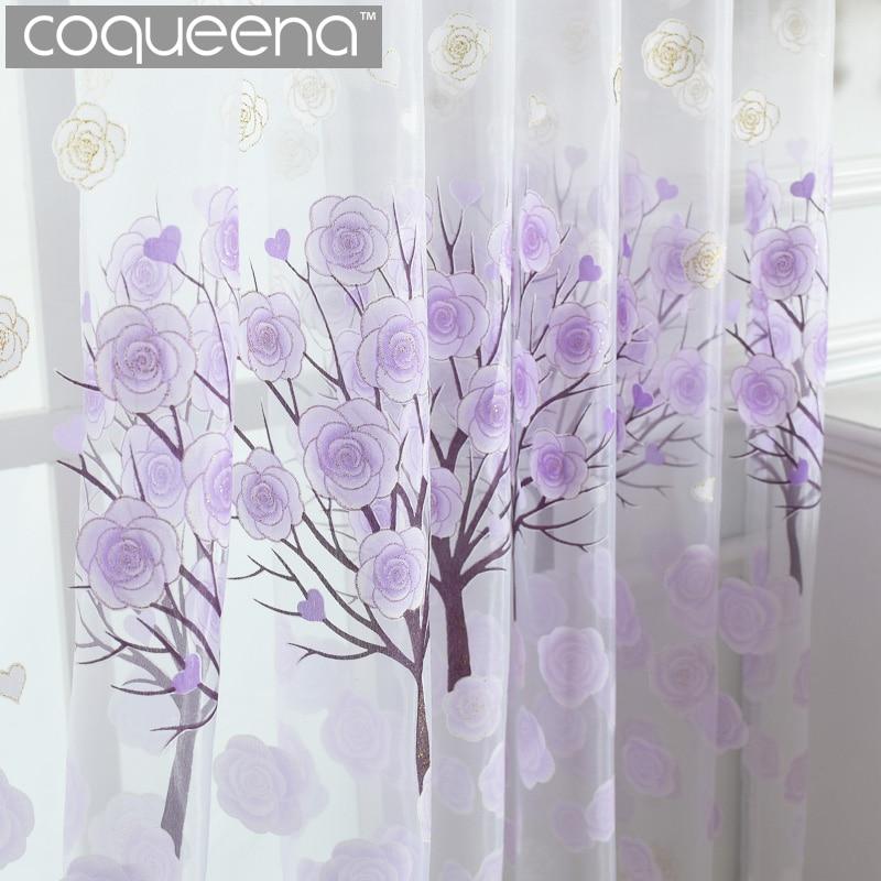 cortinas de tul para la sala de estar dormitorio panel de pura voile cortina de