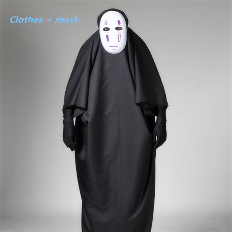 Cosplay Classic Anime Film Spirited Away Spirited Away Man and Woman Cosplay Costume Mask Gloves Halloween Party Cloak