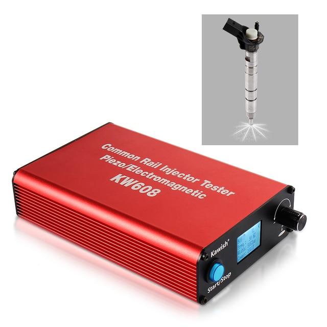 Ücretsiz kargo ve büyük satış! Kw608 çok fonksiyonlu dizel sabit basınçlı püskürtme enjektörü test Piezo enjektör test cihazı Usb enjektör test cihazı