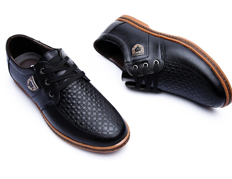HTB1S3W0afjM8KJjSZFNq6zQjFXat 2019 Men Leather Casual Shoes Men's Lace Up Footwear Business Adult Moccasins Male Shoes Chaussure Home