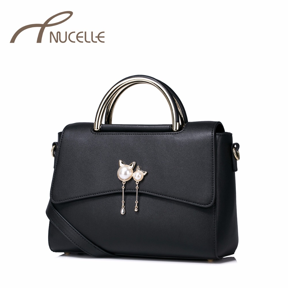 NUCELLE Women PU Leather Handbag Ladies Fashion Tassel Messenger Tote Purse Female Leisure Elegant Brief Shoulder Bags NZ4999 women fashion tassel pu leather handbag shoulder bag small tote ladies purse comfystyle