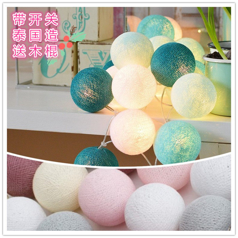 flashlights, Thailand rattan ball, romantic line, ball lamp, bedroom decorative lamp, neon lamp, small room lantern.