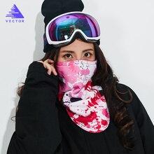 Векторная зимняя теплая маска для катания на лыжах, сноуборде, мотоциклах, спорта на открытом воздухе, маска для лица, мультяшный треугольный шарф, Ветрозащитная маска для катания на лыжах