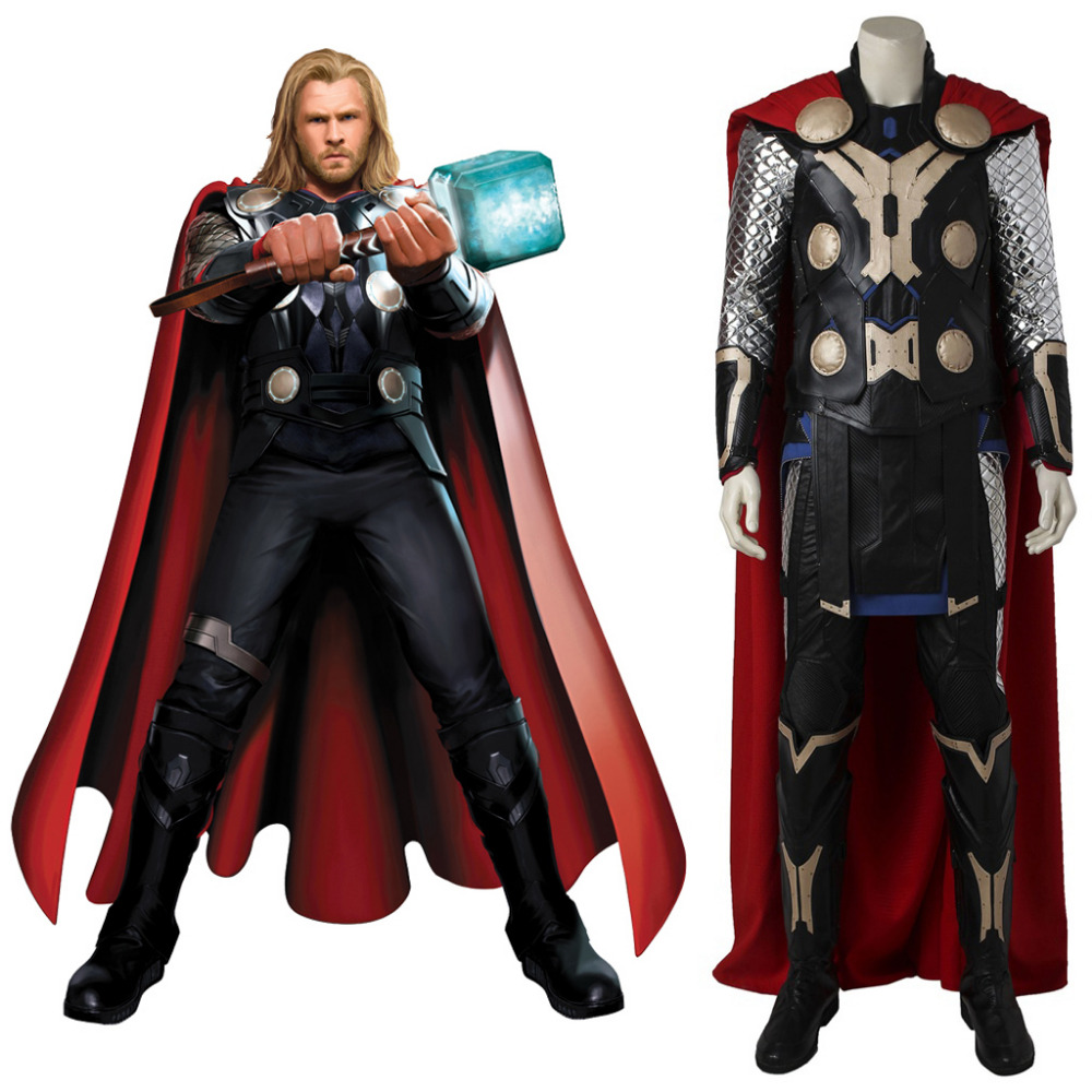Thor Cosplay Costume Avengers Age of Ultron Thor Costume Halloween Carnival Cosplay Costume For Men