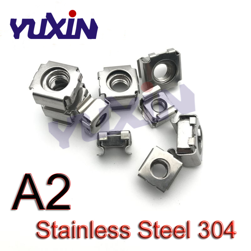 Nuts 200pcs//lot 304 Stainless Steel A2-70 M4 Square Nut