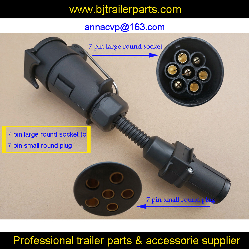 Trailer Wire Adapter 7 Pin Large Round Socket To Small