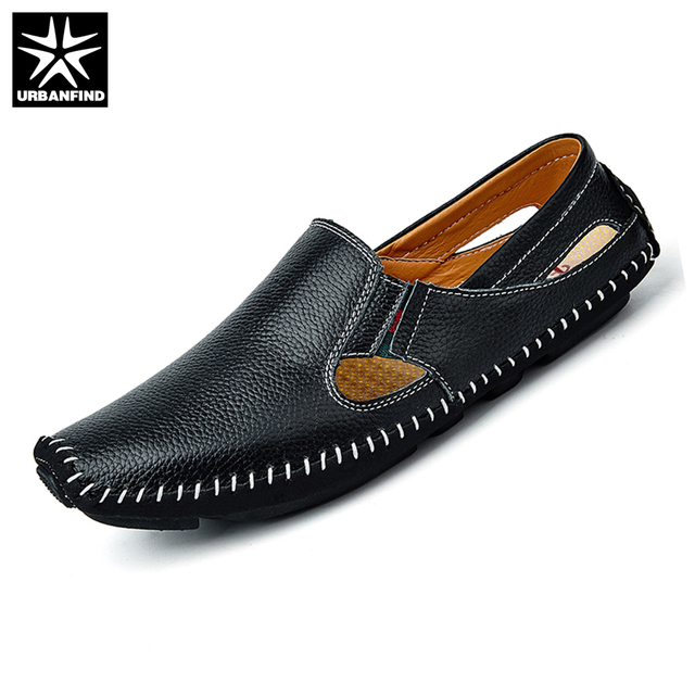 Men's Soft Leather Loafers Slip On Sewing Driving Shoes