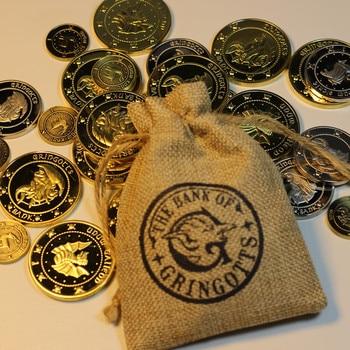 Качественная тяжелая металлическая Версия волшебника банка 3 монеты 1 тканевая сумка вентиляторы подарок на Рождество на день рождения