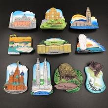 fridge magnet souvenir 3D Austria Malaysia Vatican  New Zealand Russia Macao Morocco magnets resin refrigerator paste