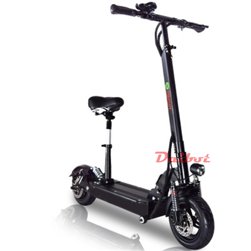 Electric Scooter With Seat >> Us 1118 89 28 Off 800w Powerful Electric Scooter Skateboard 10 Inch E Scooter Off Road Hoverboard With Seat Remote Controller For Adults In Electric