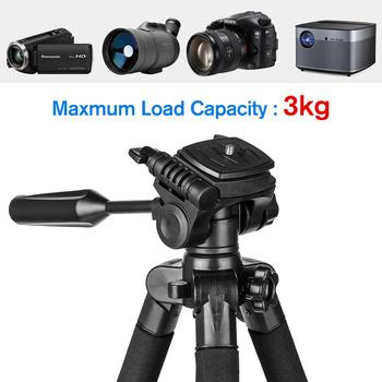 55inch Phone/Camera Tripod Professional Portable Travel Aluminum Tripode with Phone Holder for iPhone iPad Mobile Dslr Movil 1