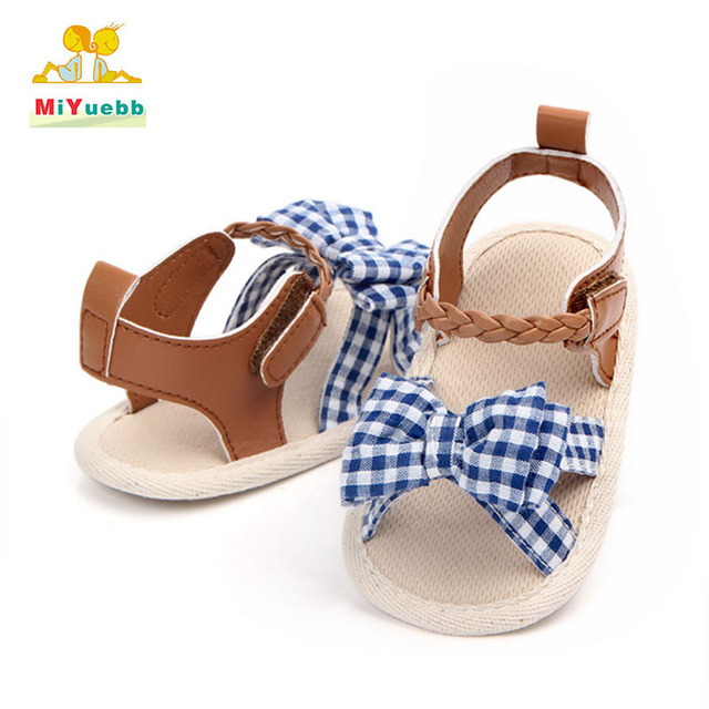 Summer Big selling new hot baby cotton toddler shoes baby girl learning first walking  Bow baby shoes Soft bottom lx19