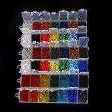 Beadia 1 набор 7 цветов размер на выбор 2 мм(2800 шт) 3 мм(1900 шт) 4 мм(700 шт) чешские бусины-разделители набор хрустальных стеклянных бусин для DIY