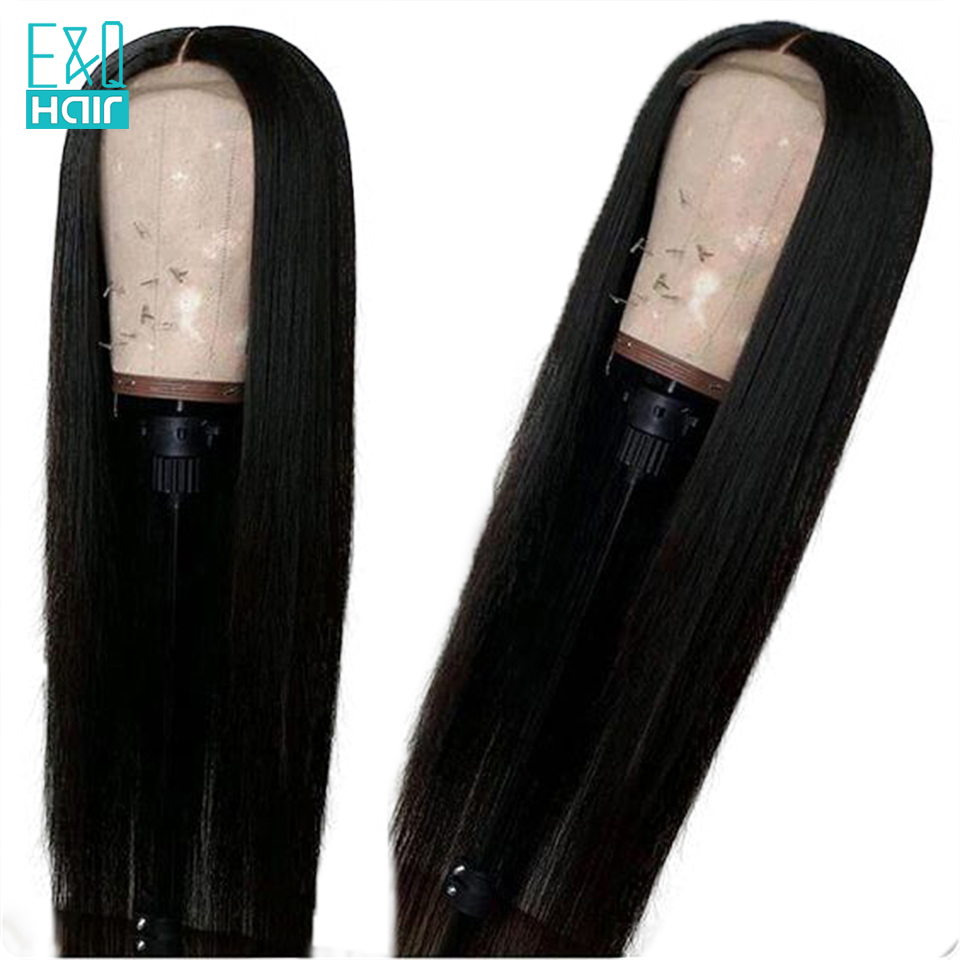 EQ 360 Lace Front Human Hair Wigs With Pre Plucked Baby Hair Malaysian Remy Straight Lace